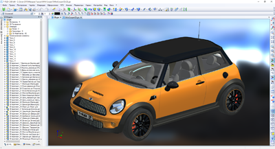 3D-модель автомобиля MINI Cooper S