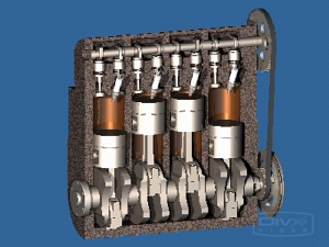 Двигатель автомобиля ВАЗ 2108