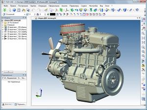 Трёхмерная модель двигателя внутреннего сгорания автомобиля «Москвич-412»