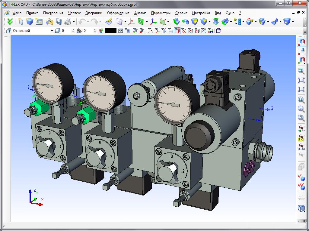 Проект 3D CAD 3D сборка и сборочный чертеж