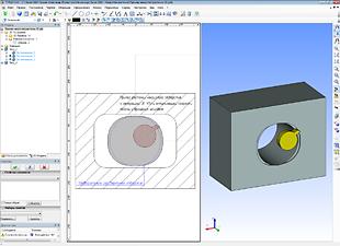 Параметрическая модель расточки некруглого отверстия токарным резцом с автоматическим получением УП ЧПУ