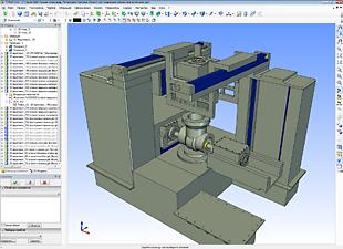Параметрическая 3D модель специального станка с ЧПУ для производства крупногабаритной трубопроводной арматуры