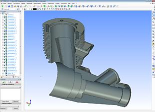 Моделирование корпуса двигателя мощностью 1,5 кВт