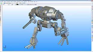 3D Модель боевого робота