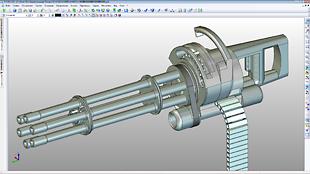 3D Модель пулемета типа Миниган