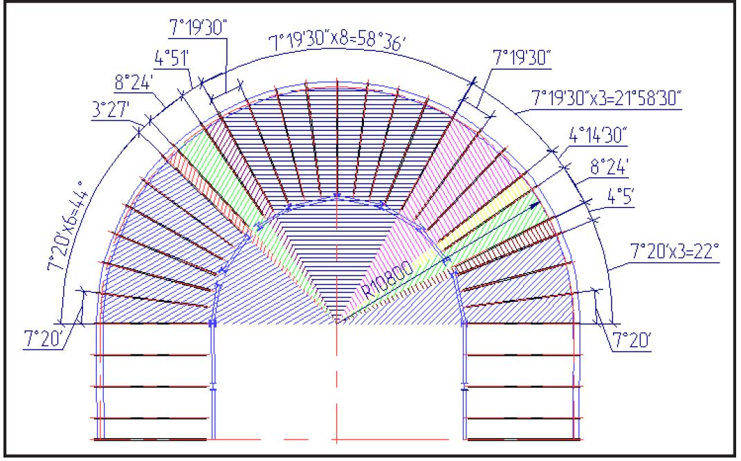 Схема размещения угловых